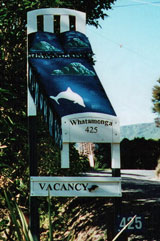 Whatamonga Homestay, Picton - sign